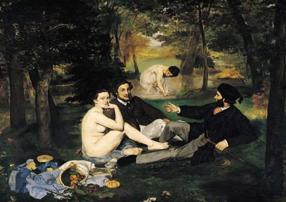 Manet, Edouard: Luncheon on the Grass. (Le Déjeuner sur l'herbe). Fine Art Print/Poster. Sizes: A4/A3/A2/A1 (00513)